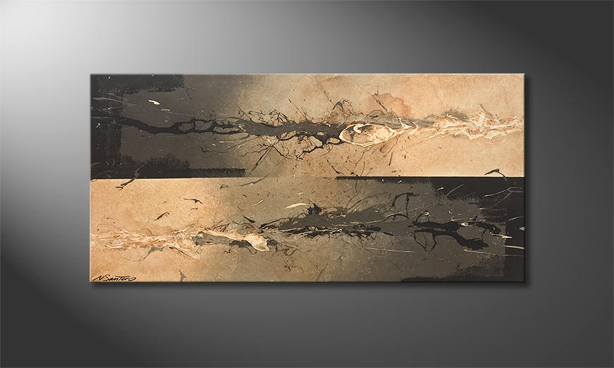 Unser Wandbild Fight The Tide 120x60x2cm