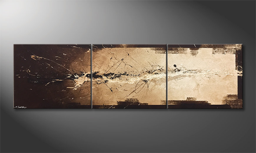 Unser Wandbild Flowing Light 210x60x2cm