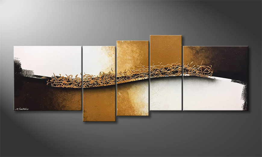 Unser Wandbild Golden Harmony 210x80x2cm