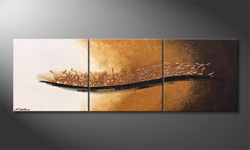 Unser Wandbild Golden Melody 180x60x2cm