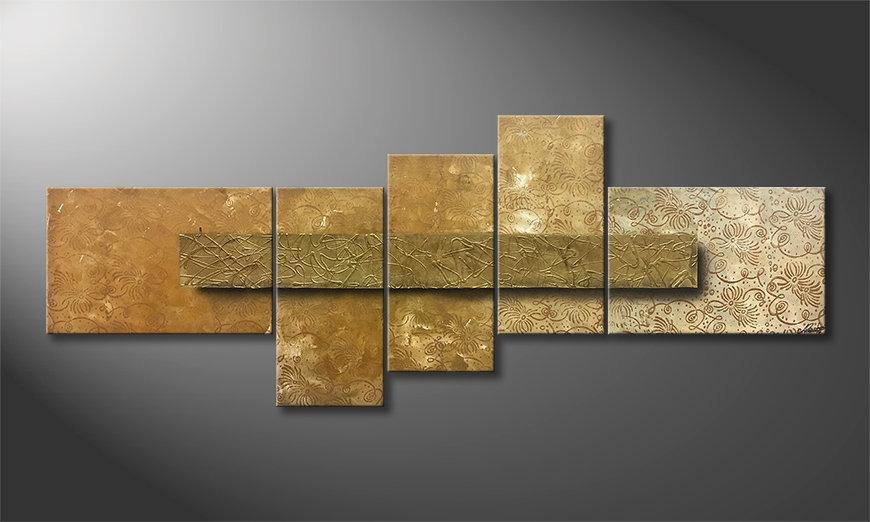 Unser Wandbild Golden Treasure 210x80x2cm