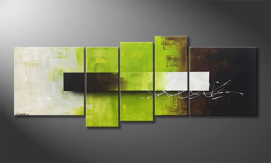 Unser Wandbild Green Day 210x80x2cm