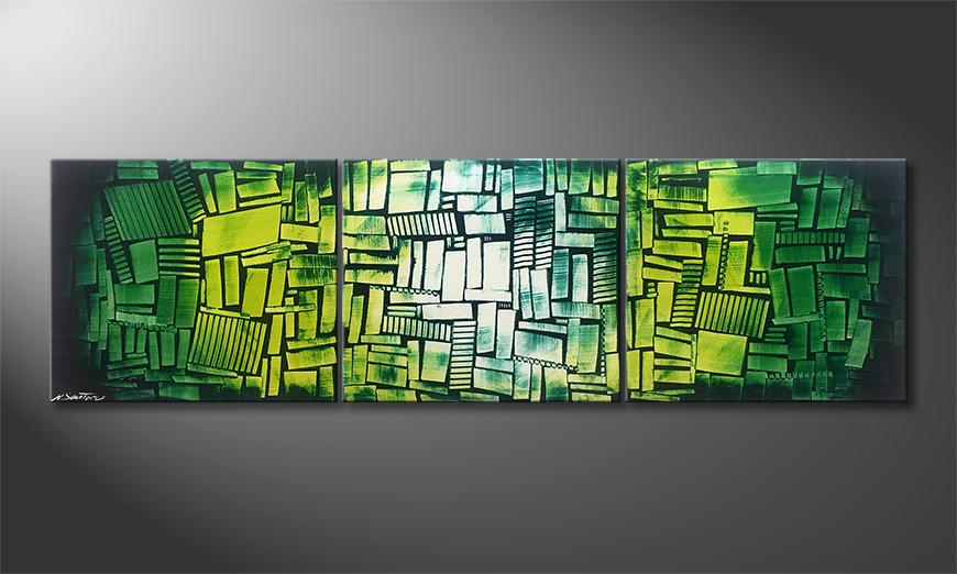 Unser Wandbild Green Hope 210x60x2cm