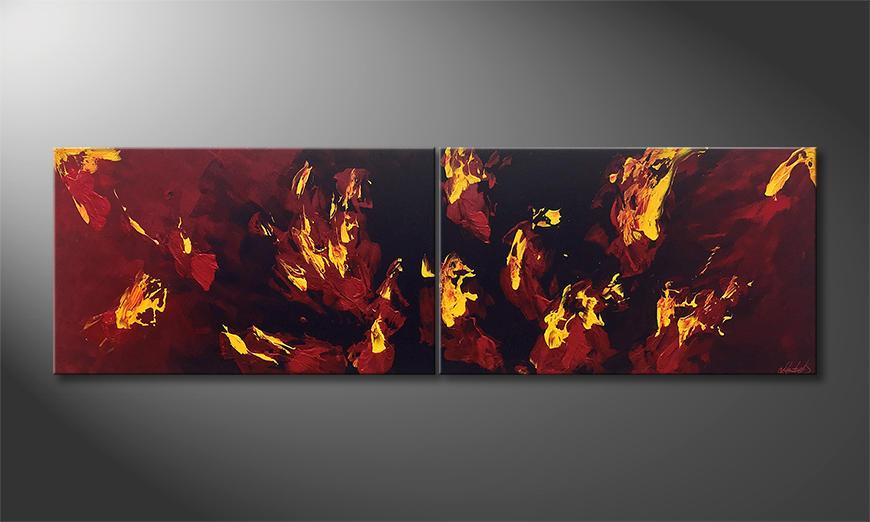 Unser Wandbild Liquid Flames 200x60x2cm
