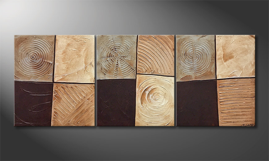 Unser Wandbild Pieces Of Earth 180x70cm