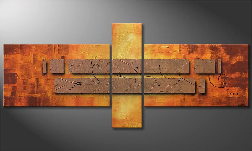 Unser Wandbild Pieces of Afterglow 230x100x2cm