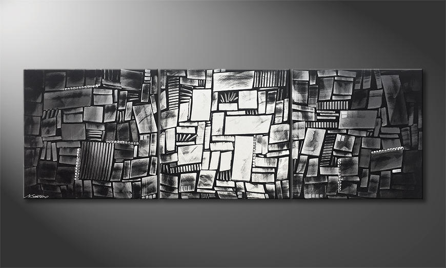 Unser Wandbild Play Of Shadows 210x70x2cm