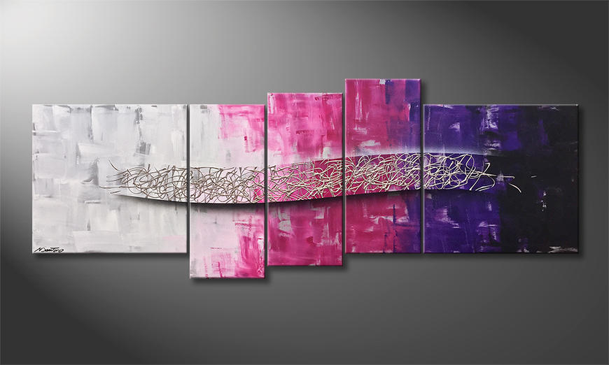 Unser Wandbild Purple Dream 210x80x2cm