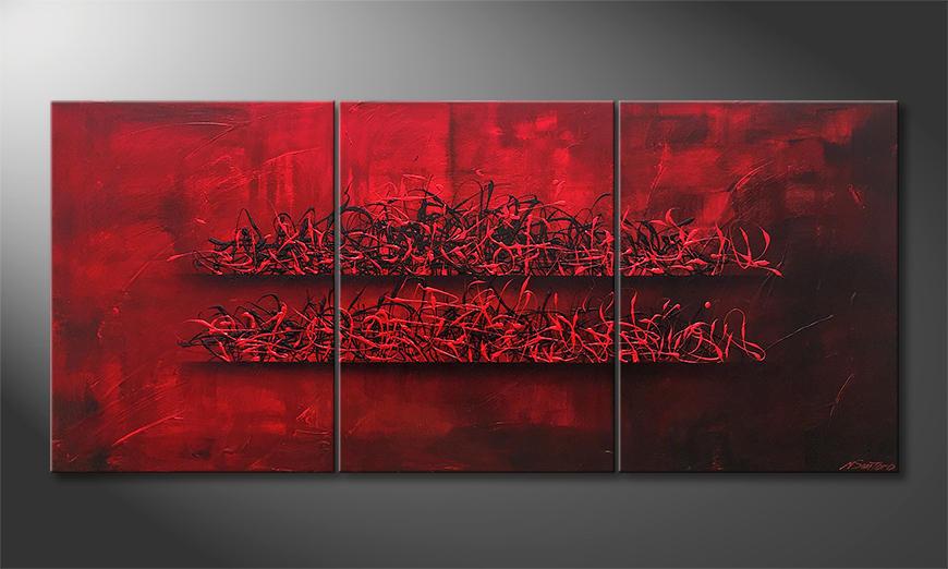 Unser Wandbild Red Glow 180x80x2cm