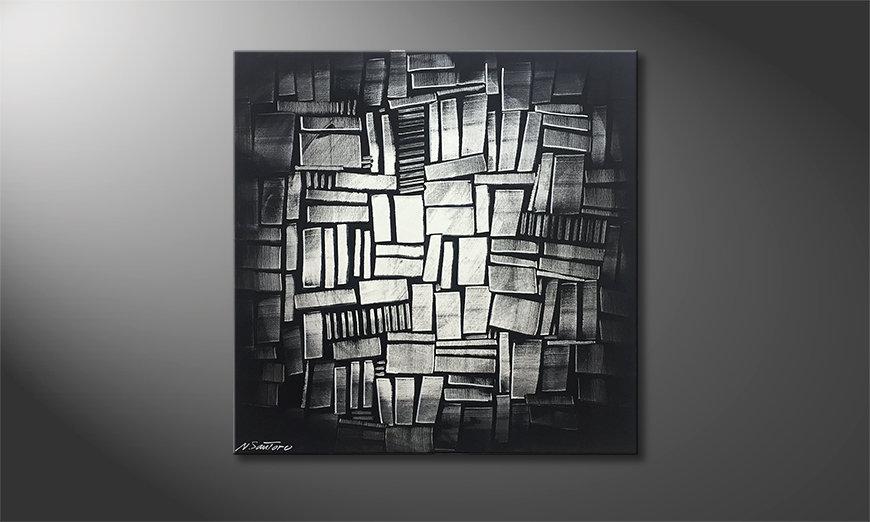 Unser Wandbild Shinning Cubes 80x80x2cm