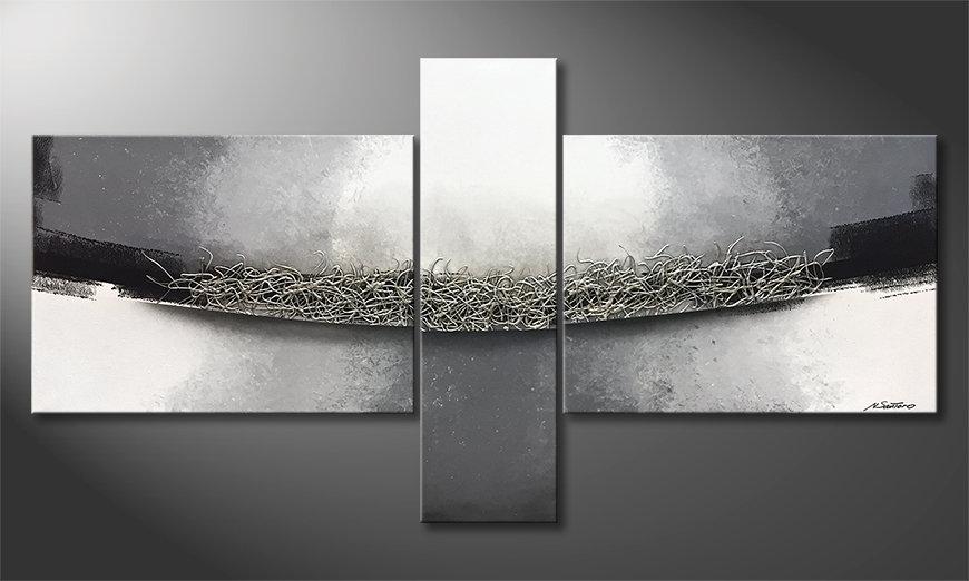 Unser Wandbild Silver Dimension 190x100x2cm