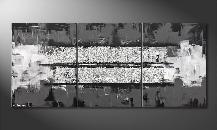 Unser Wandbild Silver Night 180x80x2cm
