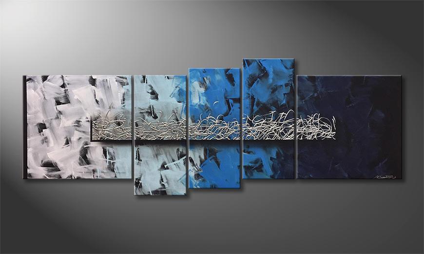 Unser Wandbild Silver Shoal 210x80x2cm