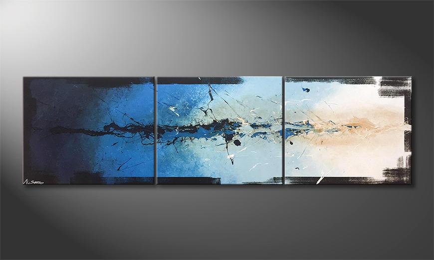 Unser Wandbild Splashy Water 210x60x2cm