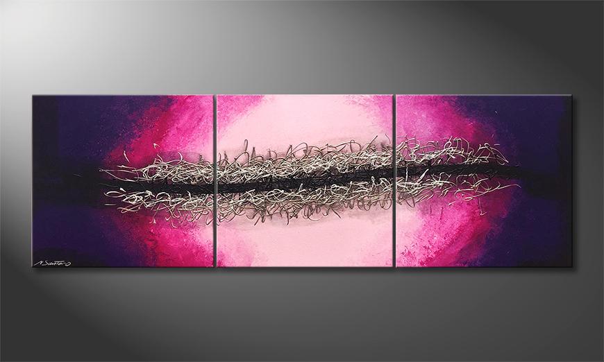 Unser Wandbild Splitted Universe 210x70x2cm