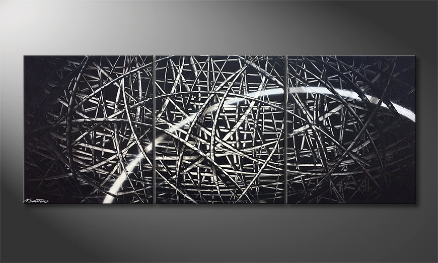 Unser Wandbild Streak of Light 180x70x2cm