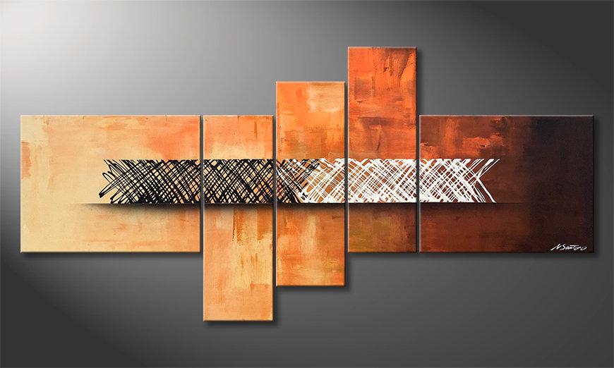 Unser Wandbild Structure Of Contrast 160x80x2cm