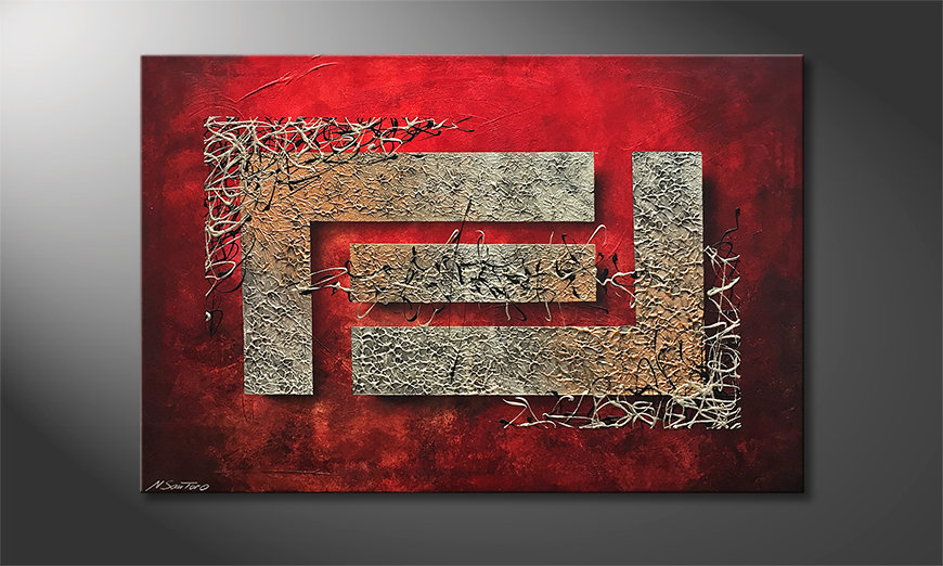 Unser Wandbild The Maze 120x80x2cm