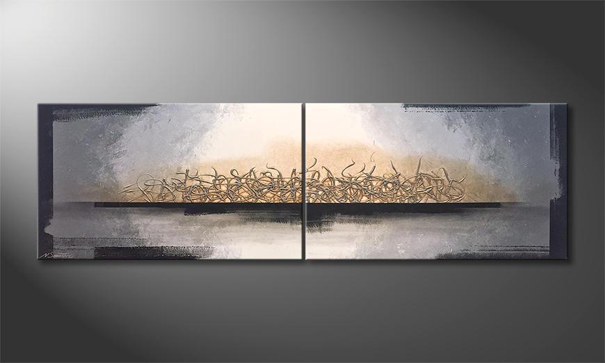 Unser Wandbild Whispering Light 200x60x2cm