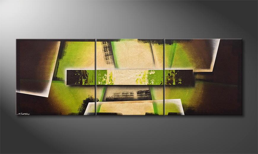 Vom Künstler: Deep Green 230x80x2cm