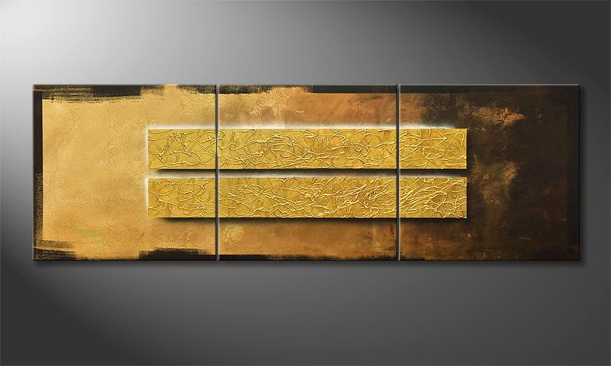 Vom Künstler: Liquid Gold 240x80x2cm