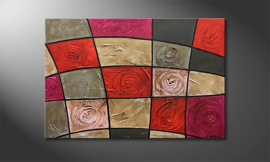 Vom Künstler: Petrified Roses 120x80x2cm