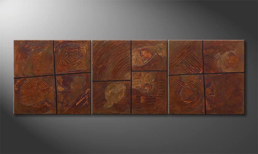 Vom Künstler: Rusty Moments 210x70x2cm