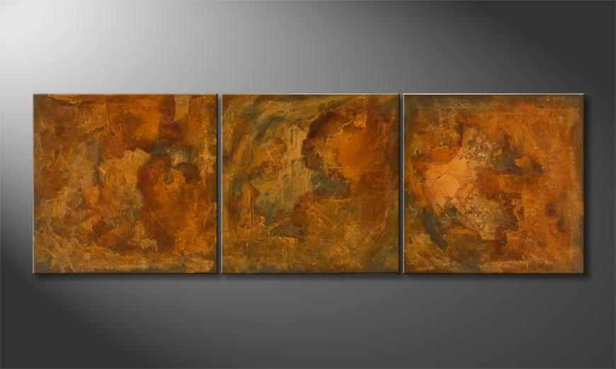Vom Künstler: Rusty Three 180x60x2cm