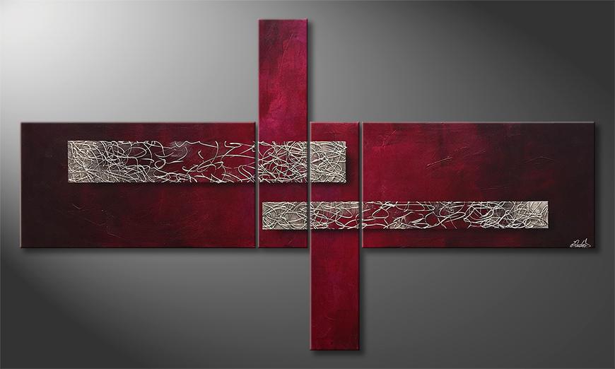 Vom Künstler: Virtuoso Silver 220x130x2cm