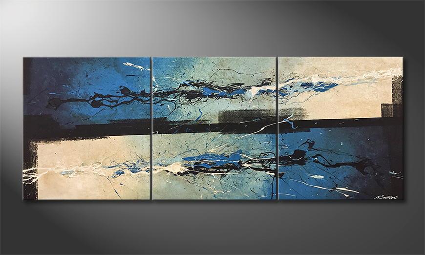 Vom Künstler: Wandering Silver 180x70x2cm