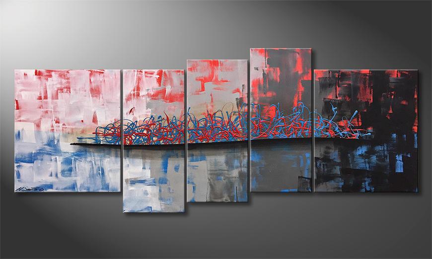 Von Hand gemalt: Hot Coldness 190x80x2cm