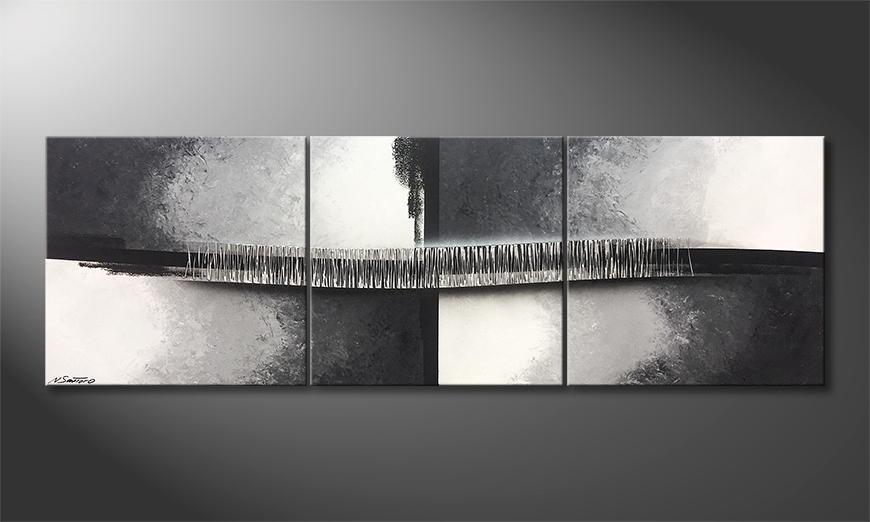 Von Hand gemalt: Silver Crest 210x70x2cm