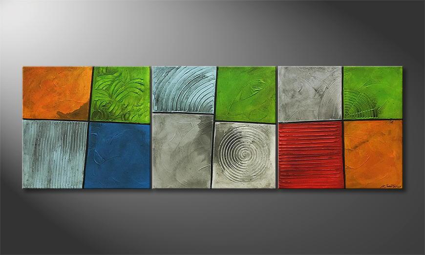Von Hand gemalt: Summer Spirit 210x70x2cm
