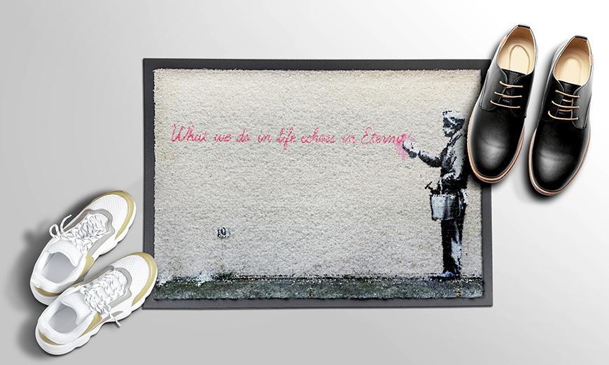 Robuste Fußmatte Banksy No 17